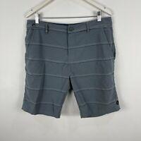 Rip Curl Mens Board Shorts 34 Grey Striped Pockets