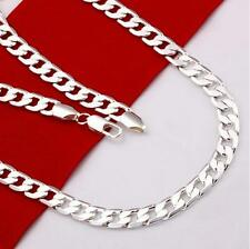 Stunning 925 Sterling Silver 4MM Classic Curb Necklace Chain Wholesale Price