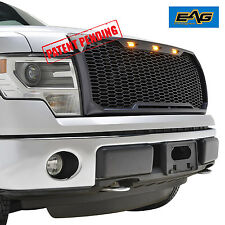 EAG Matte Black ABS Vicious Conversion Mesh Grille W/ LED Light 09-14 Ford F150
