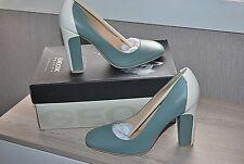GEOX RESPIRA Escarpins  Bleu vert et blanc. Talon 10 cm. T.38