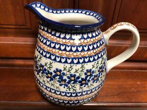 "Unikat pitcher creamer 6""handmade in Poland Polish ceramic pottery Boleslawiec"