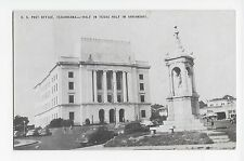 Texarkana US Post Office Half in Texas Arkansas Monument Vintage Cars Postcard