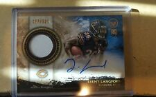 2015 Topps Valor Shield of Honor Autograph Patches #SHA-JL Jeremy Langford Auto