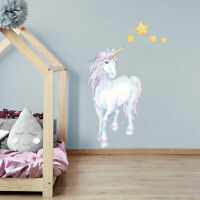 Mythical unicorn and stars wall sticker | Girls room décor | Wall decals
