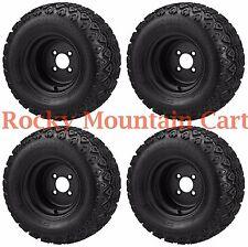 22x11.00-10 Black Trail Tire on 10x7 Black Steel Wheel - FREE Freight.