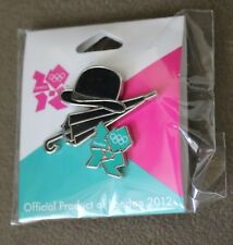 Bowler Hat & Umbrella Landmark and Icon London 2012 Olympics Pin NEW
