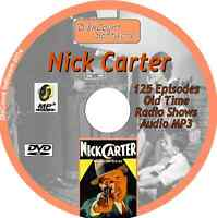 Nick Carter - 125 Old Time Radio Shows - Audio MP3 DVD