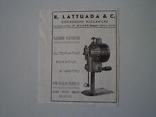 advertising Pubblicità 1947 COSTRUZIONI MECCANICHE LATTUADA - BAGGIO MILANO
