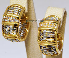 Cartier Entrelaces 18k Yellow & White Gold Diamond Woven Earrings