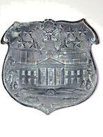 Vtg 1920s USA Washington DC Metal Souvenir Shield Plate White House - Made Japan