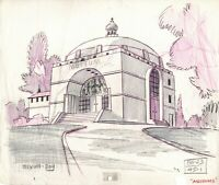 SCOOBY DOO 1969 1st episode Production Animation Background Draw Hanna Barbera