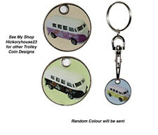 Campervan Design SHOPPING TROLLEY Token Coin Key Rings Gift Idea