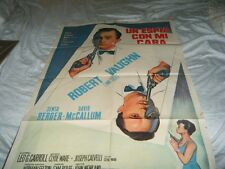 """Man from UNCLE Spy With My Face Large 29"""" X 43"""" Argentine One Sheet Very Good"""