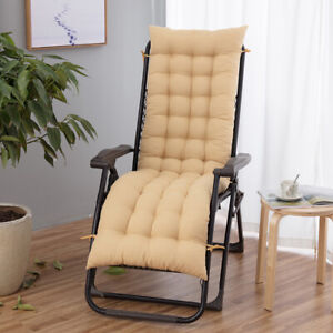 Lounge Chair Cushion Outdoor Patio Pool Recliner Tufted Soft Deck Chaise Padding