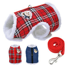 Soft Fleece Dog Harness Puppy Cat Chihuahua Yorkie Winter Jacket Clothes & Lead