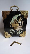 Schmuckkasten - Alte Lack-chinesische mit Schubladen und Perlmutt Dekoration