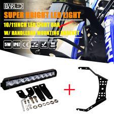 "ATV UTV Dirtbike Polaris Sportsman 10"" Led Light Bar+Handlebar Mounting Bracket"