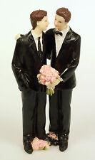 Glückliches Schwules Brautpaar Hochzeitspaar Mann Ehepaar Hochzeit Torte
