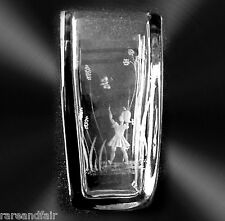 StrombergShyttan art vase - etched girl and butterfly FREE SHIPPING