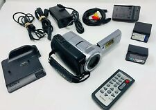 Sony Handycam DCR-SR85 HDD 25x Optical Zoom W/ Extra Battery Cables Remote Etc