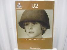 U2 The Best of 1980-1990 Sheet Music Song Book Songbook Guitar Tab Tablature