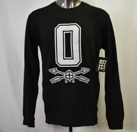 OMIT Apparel Mens Skateboarder Brand Black Crew Shirt Sweatshirt NWT L
