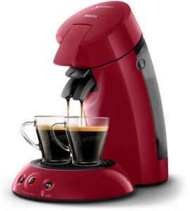 PHILIPS Original Senseo HD6554/90 Kaffeepadmaschine 1450 Watt rot B-Ware