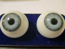 24 mm Vintage Blue Glasaugen Glass Eyes 14.5 mm Iris W. Germany Doll Mannequin