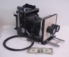 Vintage Camera Crown Graphics Graflex Double Vivitar Lenses 150mm
