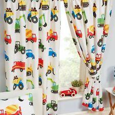 CAMIONS & TRANSPORT Doublure Rideaux Chambre à coucher pour enfants 168cm X