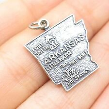 Vtg 925 Sterling Silver Arkansas Fort Smith Little Rock Hot Springs Charm