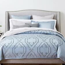 Hudson Park Collection Embroidered Tile King Duvet Cover Blue $470