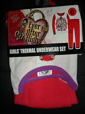 Ever After High Girls Thermal Underwear Set Red and White Size: 6 New in Package