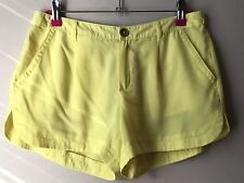 Mango MNG Collection Yellow Summer Shorts Size 8 / EU 36 / S