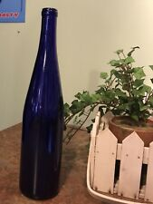 """Cobalt Blue Wine Bottles 12 Empty Used 750 ml - Home-Brew or Crafts 13"""" tall"""
