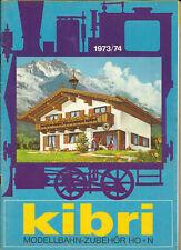 Katalog Kibri 1973/74 Modellbausätze Gebäude + Zubehör in HO 1:87 N