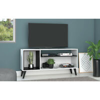"""OKU 55"""" TV Stand Cabinet Entertainment Center Living Room Table Valnot W"""