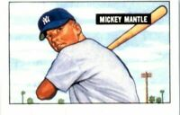 MICKEY MANTLE 1951 Bowman Rookie Card #253 RC Reprints YANKEES