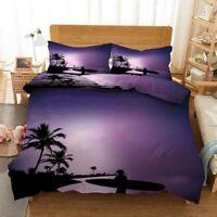 Purple Sky Path 3D Printing Duvet Quilt Doona Covers Pillow Case Bedding Sets
