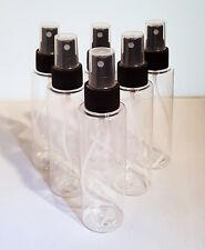 6 Sprühflaschen Klar Kunststoff 100 ml, Pumpzerstäuber, Sprüher