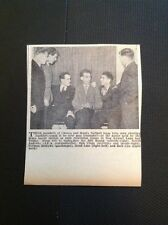G2-1 Ephemera 1953 Picture Chance And Hunt Football Team Bill Round N Andrews