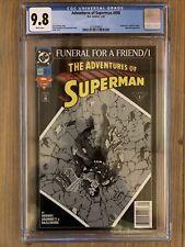 ADVENTURES OF SUPERMAN #498 CGC 9.8 SUPERGIRL APP NEWSSTAND!!!!