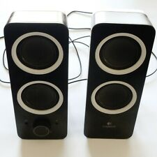 Pair Of Black Logitech Computer Speakers S/N: 1603GX417678 EUC
