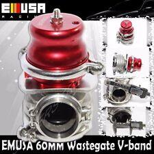 Emusa 60MM Vband Wastegate RED Turbo Acura Integra BMW Audi Honda Accord Civic