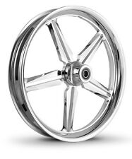 """DNA """"ICON"""" CHROME FORGED BILLET 21"""" X 3.25"""" FRONT WHEEL HARLEY SOFTAIL"""
