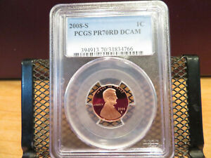 2008-S Lincoln Cent PCGS PR70RD DCAM skc0148