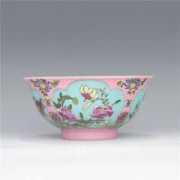 "6"" Qing kangxi mark China Antique Porcelain colour enamels handmade flower Bowl"