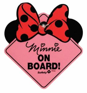 Safety 1st Disney Minnie Mouse On Board Sign