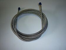 """4AN NITROUS OXIDE STAINLESS STEEL BRAIDED HOSE 96"""""""