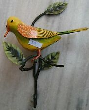 RARE COLORFUL SPARROW BIRD HOUSE WARE WALL HANGER HOOK LIVING STYLES UTILITY ART